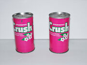 Lot Of 2 Vintage Orange Crush Strawberry Crush Soda Can Cans Pink Free Shipping