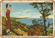 Metal Sign - New York Postcard - High Cliffs Overlook The Potomac River At West