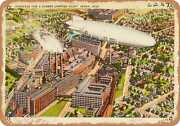 Metal Sign - Ohio Postcard - Goodyear Tire And Rubber Company Plant, Akron, Ohio