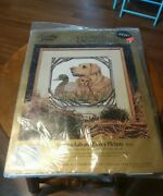 Something Special Counted Cross Stitch Golden Lab Puppy Decoy 14 X 14 Vintage