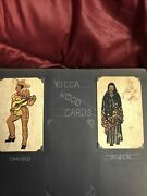 10/ 1940s Yucca Wood Handpainted Wooden Post Cards Mint Condition X535bk