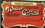 Vintage Tommy Bartlett's Water Circus Prize Drawing Certificat
