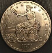 1874 United States Proof Trade Dollar 90 Silver Coin