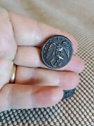 Antique Civil War 5 Buttons Usmc Waterbury Co Cn Usa 13 Stars W/ Eagle And Anchor