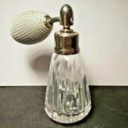 Beautiful Waterford Perfume Bottle, Atomizer Etched / Signed