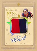 J.j. Watt -- 2018 Flawless And039star Swatchand039 2-color Jumbo Patch On-card Auto /15