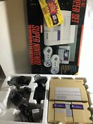 Vintage Super Nintendo Snes Console With Original Box Working Controllers Power