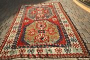 Antique Kazak Size 5.10x8.3circa 1915 Over 100 Years Old Perfect Condition