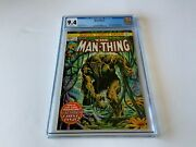 Man Thing 1 Cgc 9.4 White Pages 2nd Howard The Duck Marvel Comics 1974 Manthing