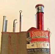 Vintage South Bend 9andrsquo Split-bamboo Fly Rod No. 47-9andrsquo Hch Original Ex. Condition
