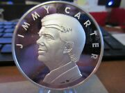 1977 Jimmy Carter Official Presidential Inaugural Medal .999 Silver 63mm 936