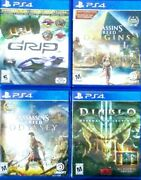 Assassins Creed Origins And Odyssey, Diablo 3 Eternal Collection, Grip Ps4 Set