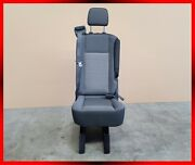 1 Passenger Single Gray Cloth Reclinable Bench Seat W/ Arm Universal Fit
