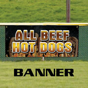 All Beef Hot Dogs Garden Portable Water Proof Advertising Vinyl Banner Sign