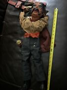 Antique Puppet 23andrdquo Tall Marionette Paper Mache Ny Doll W Fur Cape And Crown