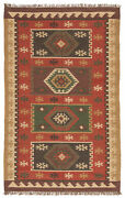 Jaipur Living Amman Handmade Geometric Red/ Gold Area Rug 8and03910x11and0399
