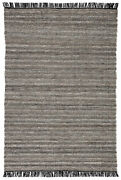 Jaipur Living Torre Indoor/ Outdoor Solid Black/ Rust Area Rug 10and039x14and039