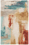 Jaipur Living Swisher Handmade Abstract Blue/ Red Area Rug 8and039x11and039