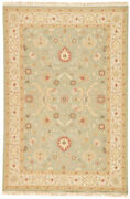 Jaipur Living Kolos Hand-knotted Medallion Green/ Gold Area Rug 6and039x9and039