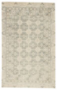 Jaipur Living Stage Hand-knotted Border Ivory/ Green Area Rug 6and039x9and039