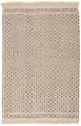 Jaipur Living Soleil Indoor/ Outdoor Solid Beige/ Dark Taupe Area Rug 9and039x12and039