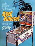Evel Knievel Bally Pinball Flyer / Brochure / Ad Mint Condition