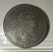 1798 Draped Bust Large Cent | 8 Over 7 Overdate | Very Fine | U2746