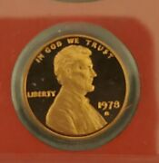 1978 S San Francisco Proof Lincoln Cent Penny Bu