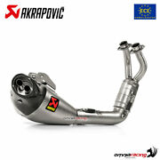 Akrapovic Full Exhaust System Approved Titanium For Yamaha Mt07 2021