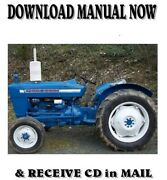 1965 Ford 3000 Model Tractor Factory Ford Repair Service Manual On Cd