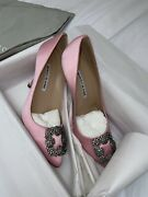 Manolo Blahnik Hangisi 105 Baby Pink Size 37.5/ Uk 4.5 Sold Out Globally