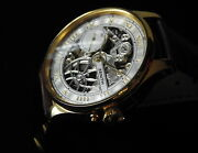 Zenith Swiss Rare Collectable Stainless Steel Skeleton Menand039s Wristwatch 48mm 1x