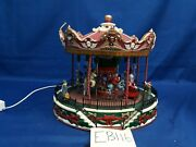 Lemax Village Collection Santa Carousel 34682 As Is Eb116