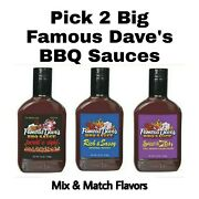 Pick 2 Famous Daveand039s Big Bbq Sauce 42 Or 43 Oz Bottles Famous Daves Barbecue