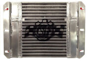 Csf Dual Fluid Bar And Plate Hd Oil Cooler W/9in Spal Fan 1/3 And 2/3 Partition