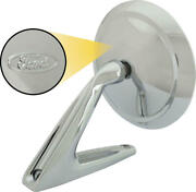 Outside Rear-view Mirror Assembly - Round Head - Manual Control - Chrome