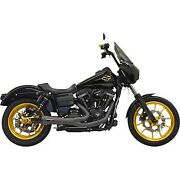 Bassani Black Ripper 2-into-1 Exhaust System For Harley Fxd Dyna 06-17
