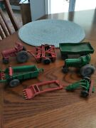 7 Old Vintage Toy Auburn Rubber Usa Tractors Farm Equipment Used