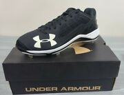 Under Armor Men's Black Ignite Low St Baseball Cleats Shoes Size 9 New