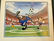 Disney Goofy Soccer Animation Cel, Pin, Artists Signed Card. And Coa Le 300
