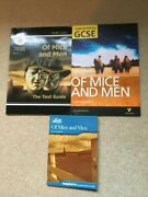 Of Mice And Men John Steinbeck Literature Guides For Gcse English 3 Book Bundle