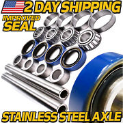 2 Improved Axle And Bearing Kits For Exmark 1-633959 1-633585 1-633580 1-633581