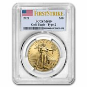 2021 1 Oz American Gold Eagle Ms-69 Pcgs Firststrikeandreg Type 2