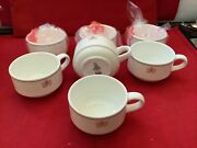 British Airways Airline Airplane Set Of 7 Royal Doulton Tea Cups Ce4506 New 1st.