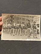 Original Wwii Photo Us Army Air Corp Squadron Marching A-2 Jacket