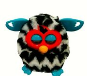Hasbro Furby Boom 2012 - Black And White Striped With Teal Ears Works
