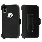 10x For Iphone 12 Pro Max X Xr Xs 6 6s 7 Shockproof Defender Case Holster Black