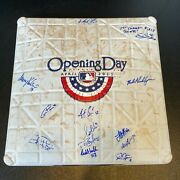 2011 Minnesota Twins Team Signed Opening Day Game Used Base Mlb Authentic Holo