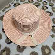 Lack Of Color Paradiso Pink Straw Boater Hat Bow