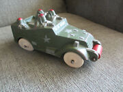 Vintage Rare 1940s Sun Rubber Toys Us Army Toy Soldier Ww11 M3 Armored Scout Car